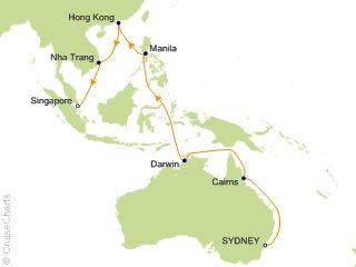22 Night Sydney to Singapore Cruise from Sydney