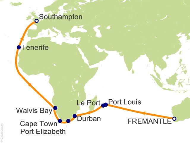 33 Night Fremantle to Southampton Cruise