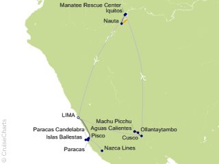 12 Night From the Inca Empire to the Peruvian Amazon with the Nazca Lines Cruise and Land Tour from Lima