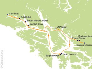 7 Night Alaska Glacier Country Cruise from Juneau