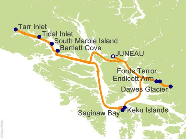 7 Night Alaska Glacier Country Cruise