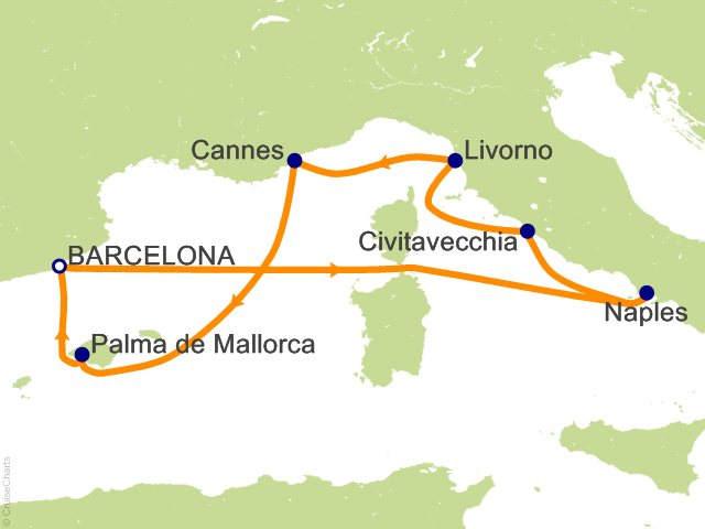 7 Night Western Mediterranean From Barcelona Cruise On Norwegian Epic From Ba