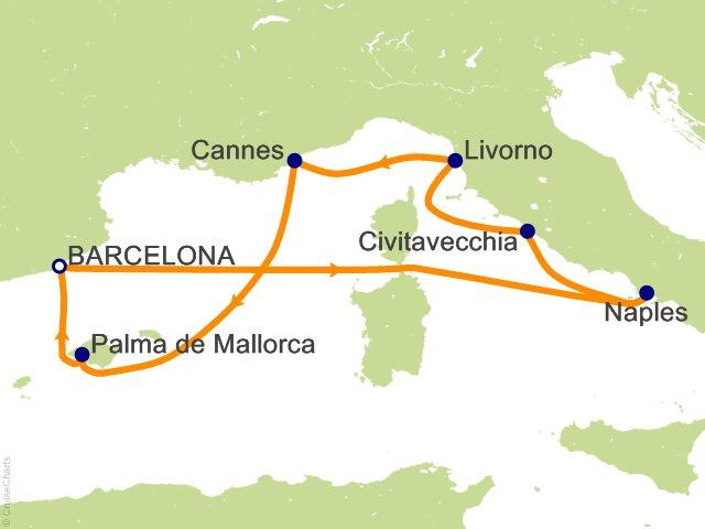 7 Night Western Mediterranean From Barcelona Cruise